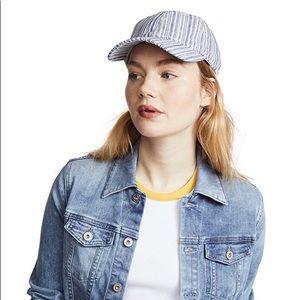 MADEWELL • Blue Texture Striped Baseball Hat Cap